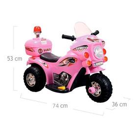 Mini Moto Elétrica Infantil Criança 2 À 4 Anos Barzi Rosa