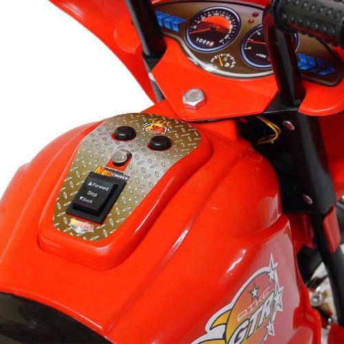 mini moto eletrica infantil vermelha policia melhor preço 6v