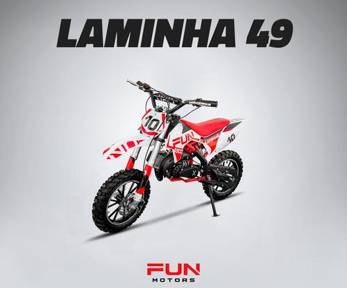 mini moto infantil laminha 49cc quadri e cia off road