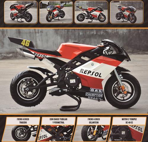 mini moto pista 49 cc  marca pagani para chicos