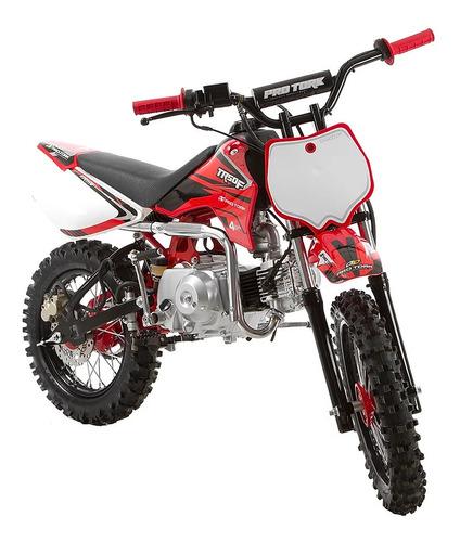mini moto protork tr50f vermelha (partida pedal - 3 marchas)