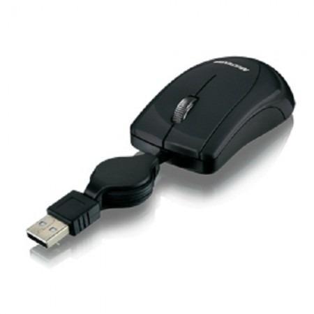 mini mouse com cabo retratil black piano mo159 multilaser