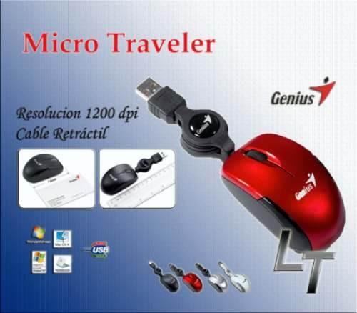 mini mouse genius micro traveler optico retractil