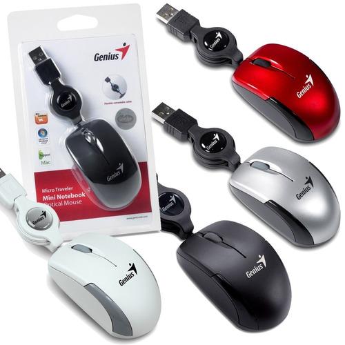 mini mouse genius optico retractil 3 botones usb laptop