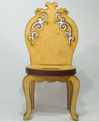 mini móveis - miniaturas cadeira c/ramo mdf crú 6x2,7 60 pç