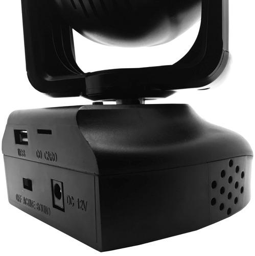 mini moving bola maluca rgb strobo sensor som cartão mp3 usb