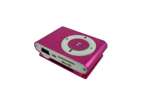 mini mp3 player shuffle clip fm + cabo usb + fone  - azul