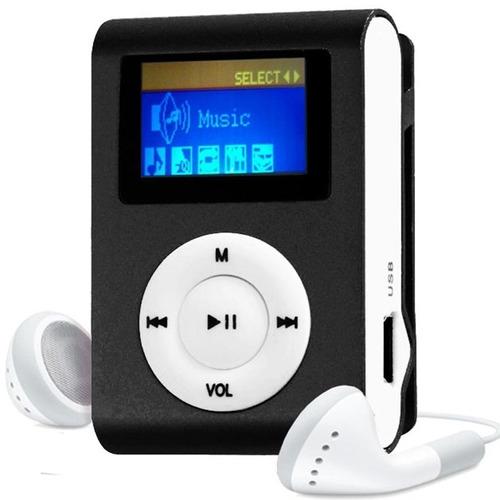 mini mp3 player shuflle ipod clip cabo usb fones micro sd
