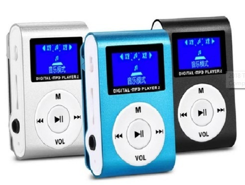 mini mp3 player tela lcd  shuflle clip  micro sd