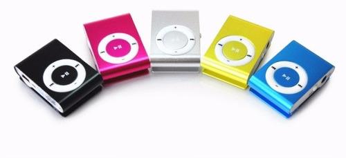 mini mp3 varios colores + auriculares soporta 8gb zonalaptop