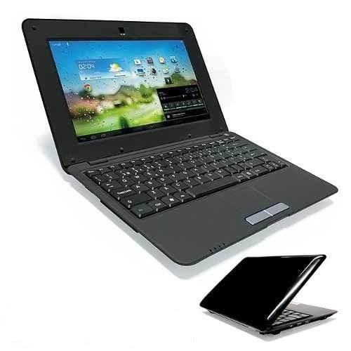 mini netbook 7 polegadas android 4 hdmi 3g + brinde preto