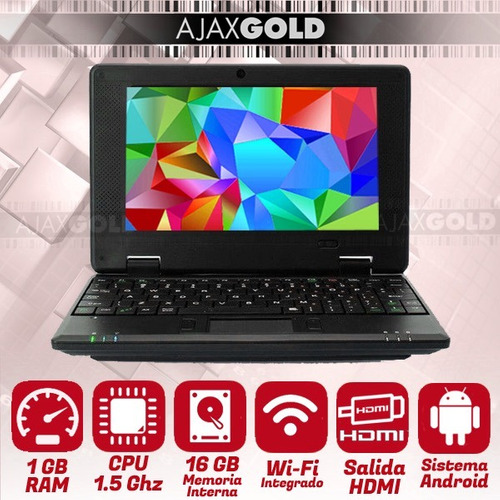 mini netbook android pc wifi 3g lcd 7 touch pad hdmi full hd
