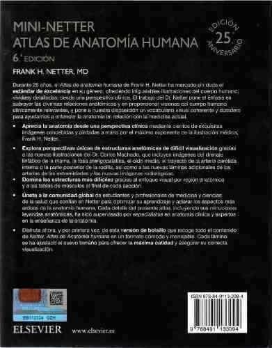 mini-netter 100% original atlas de anatomía humana 6°ed