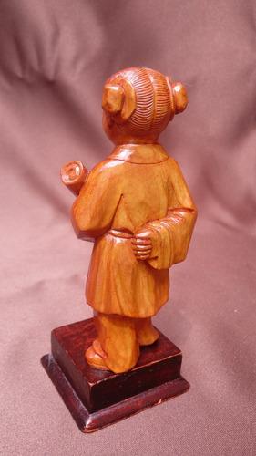 mini obra de arte, talla en madera