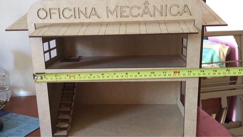 mini oficina escala 1/64 para hot wheels e outros