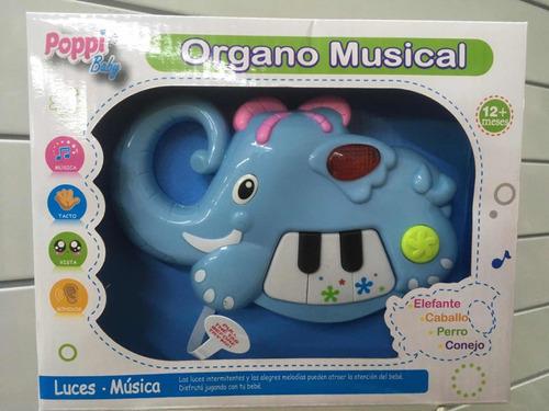mini organito piano bebe animales luz sonido july toys