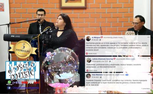 mini orquesta digital completa show criollo filmación fotos