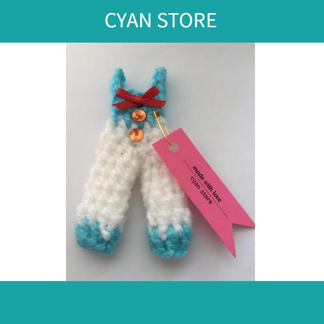Mini Overol A Crochet (rosa/blanco) Baby Shower, Cumpleaños - S/ 4 ...