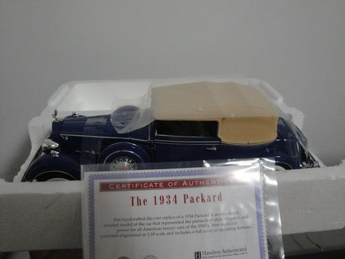 mini packard 1934 tipo cadillac 1:18 ertl com certificado