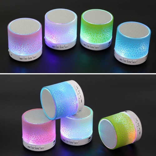 mini parlante bluetooth luces led manos libres micro sd aux