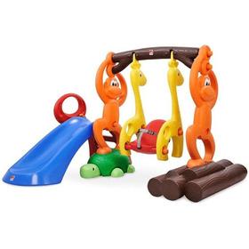Mini Parque Infantil Diversões Balanço Escorregador Crianças