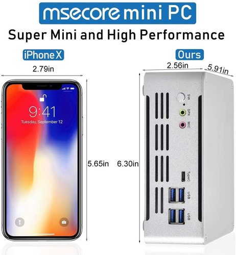 mini pc core i7 7a generación, 520gb, 16gb ram