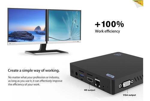 mini pc intel windows 10 original, quad core cpu 4 gb ram