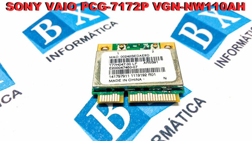 mini pci wireless sony vaio pcg 7172p vgn nw110ah ar5b91