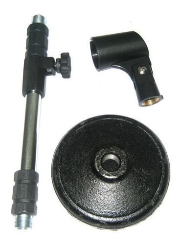 mini pedestal microfone mesa reto telescópico visão - dinhos
