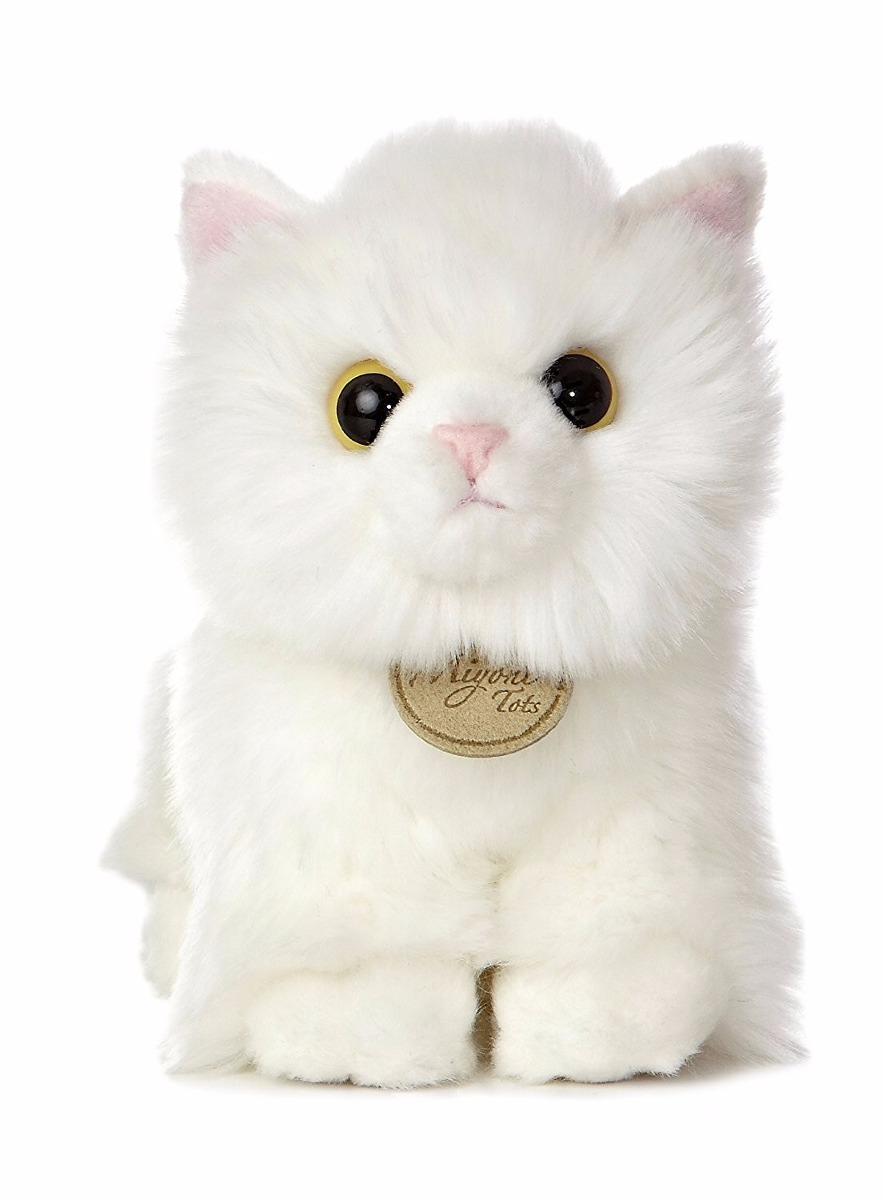 Stuffed Fluffy White Cat