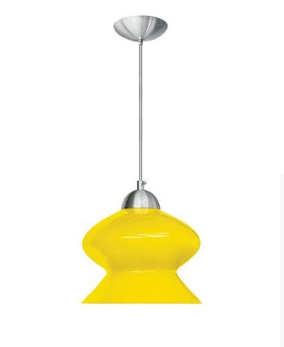 mini pendente amarelo moderno ø20 para quarto sala - caisma