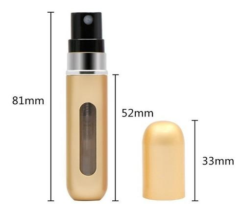 mini perfumero atomizador recargable 5 ml muchos colores