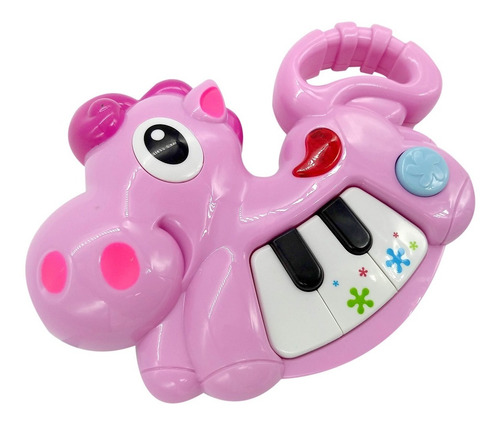 mini piano didactico caballo con luz primera infancia poppi