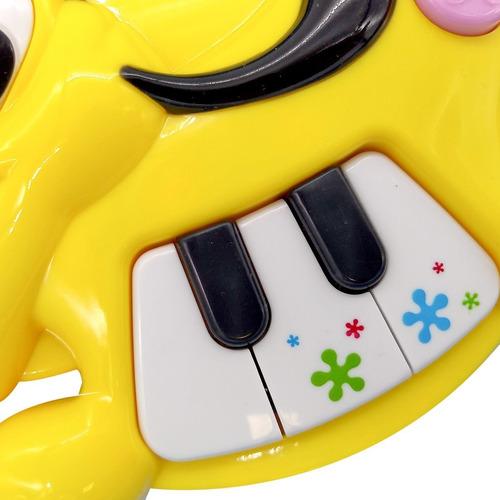 mini piano didactico perro con luz primera infancia poppi