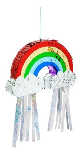 mini piñata para caramelos arcoiris! sunnylife