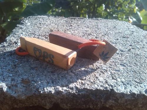 mini pipas madera artesanal. se vende 5 pipas x 2 green