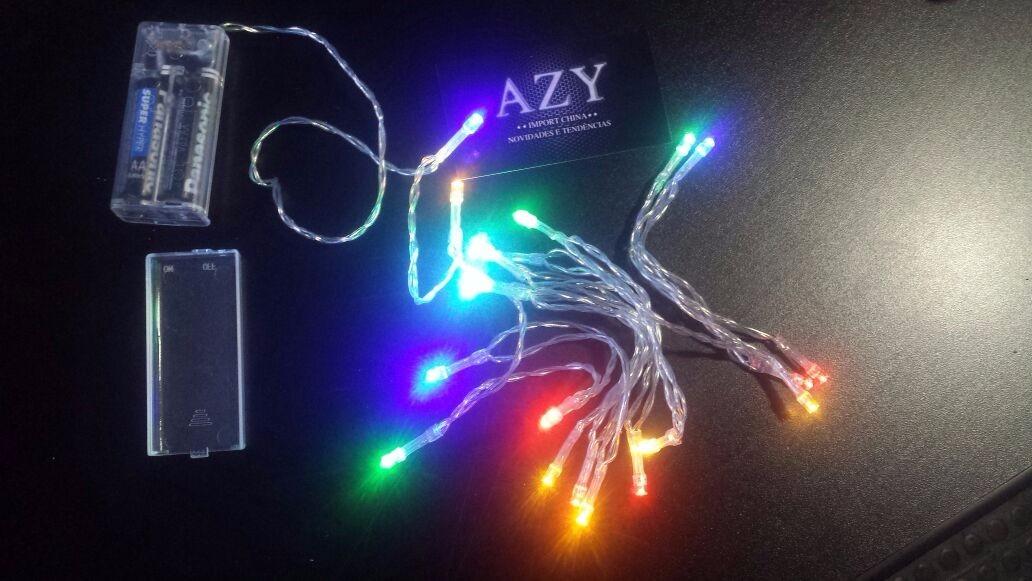 75500f549 mini pisca fixo luzes 50 led pilha colorido decoração. Carregando zoom.