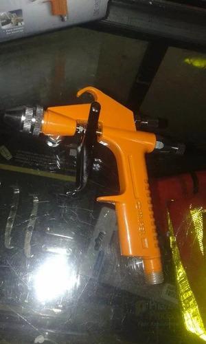 miní pistola de gravedad marca truper.