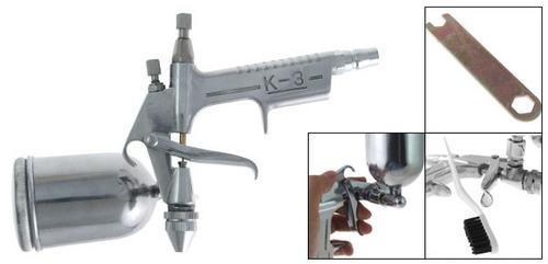 mini pistola de gravedad profesional aerografica + obsequios