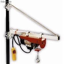 mini polipasto de cable de 300/600 kgs con 6 y 12 mtrs 115 v