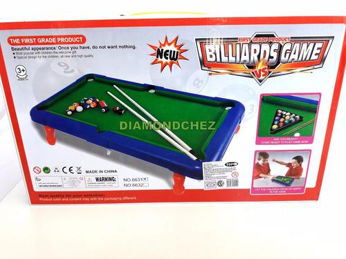 mini pool de mesa billar para niños completo c/palos y bolas