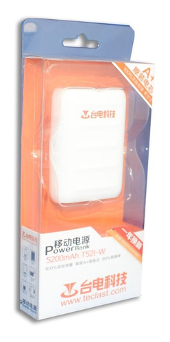 mini portable bateria externa 5200mah power bank