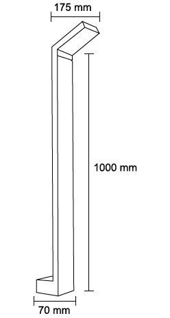 mini poste led de exteriores 6w 4000k de aluminio+pc ad-4203