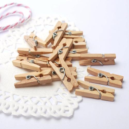 mini prendedores pregadores lembrancinha 50 natural madeira