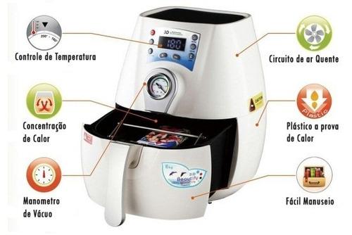 mini prensa termica de sublimaçao 3d a vácuo
