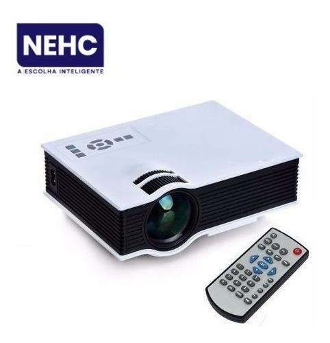 mini projetor data show profissional 800 lumens uc40 303