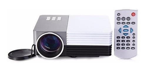 mini projetor de telas portátil led hdmi usb sd saida vga