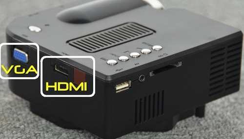 mini projetor led 80 polegadas hdmi vga usb sd av multimidia