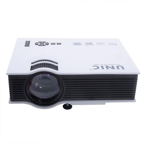 mini projetor led cinema hdmi usb 800l 130 polegada uc40
