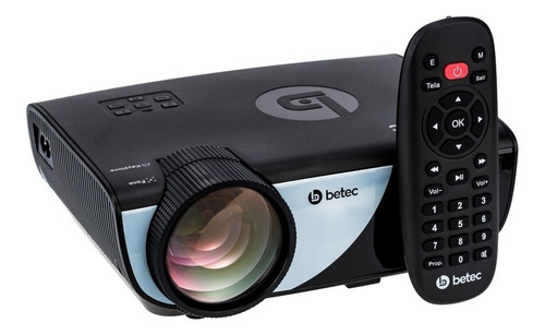 mini projetor led portatil - 1600 lumens - betec bt835